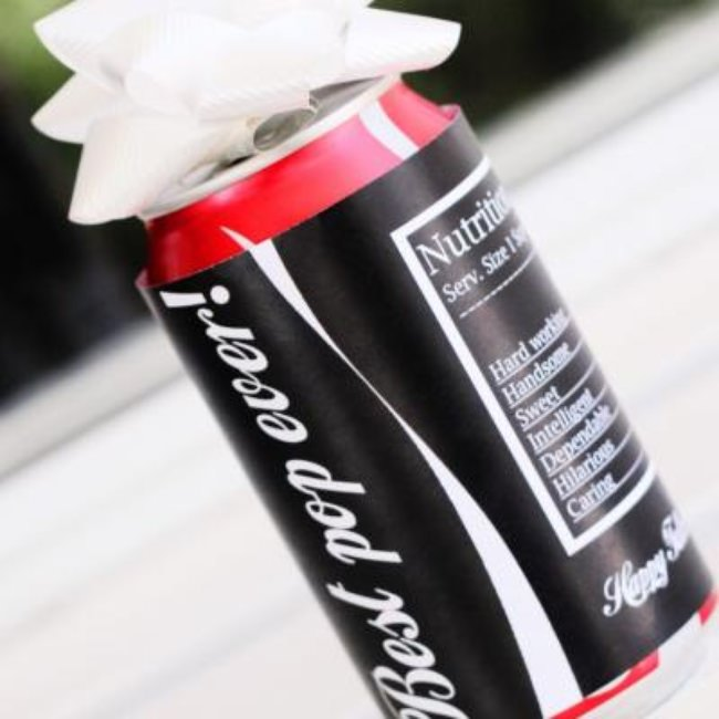 Printable Father's Day Coke Can Sleeve {Food}
