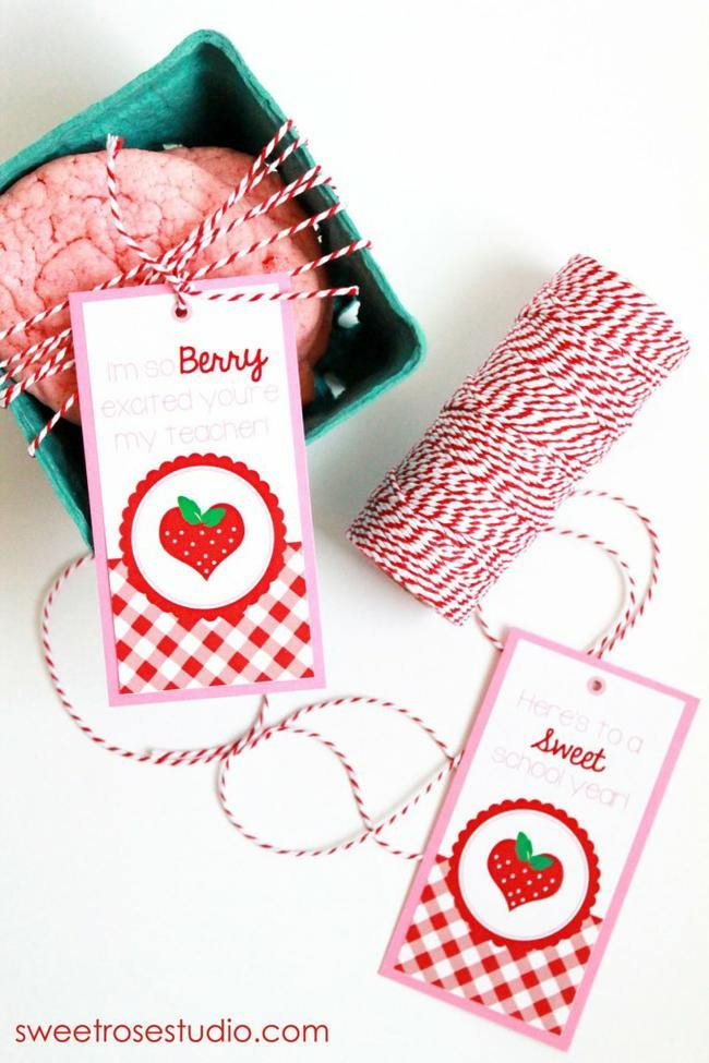 Berry Excited Teacher Gift and Tags