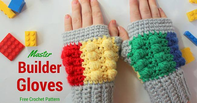 Master Builder Gloves {free crochet pattern}