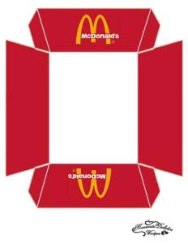 hamburger printable box