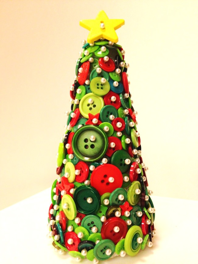 Button Christmas Tree & Ornament Tutorial