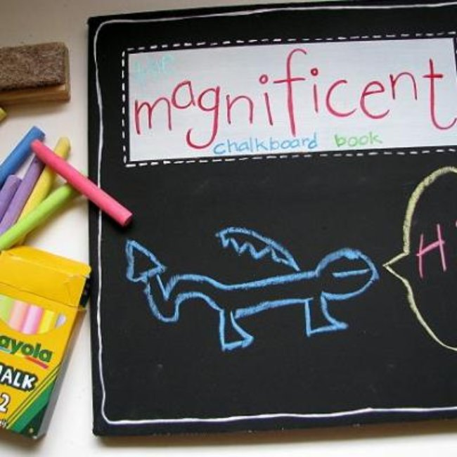 DIY Chalkboard Books For Kids