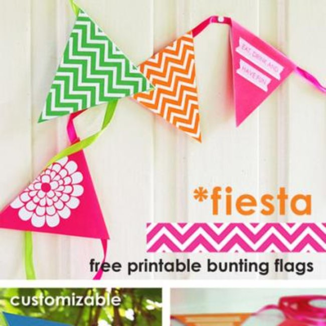 Colorful Bunting Flags {Free Printable}