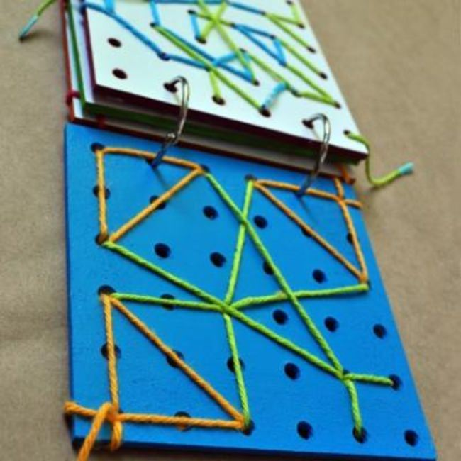 Lace Up Board Book Project {On The Go Toys}