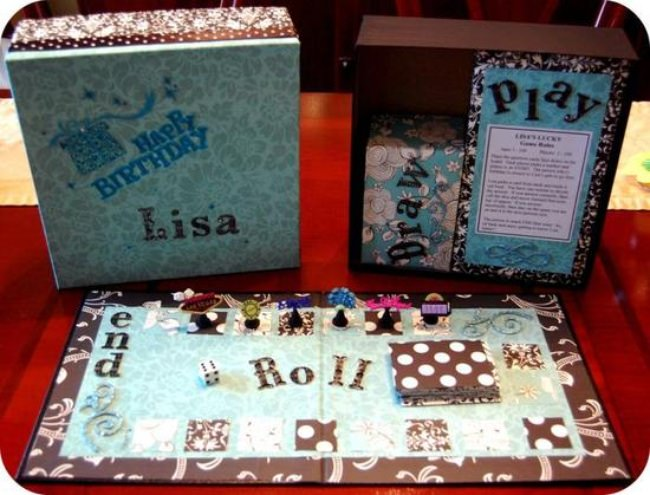 How to Make a Birthday Board Game {gift}