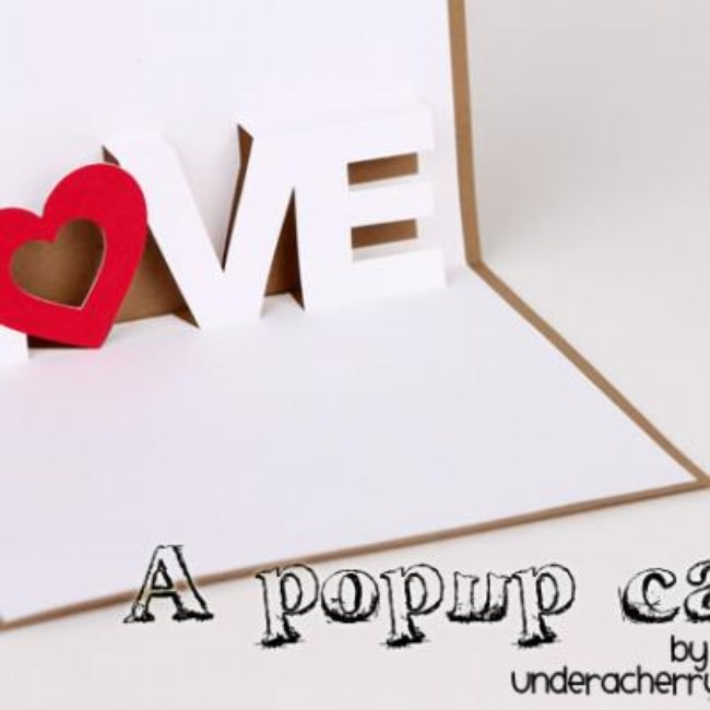 LOVE Pop Up Card {Homemade Pop-Up Cards}