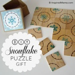 DIY Snowflake Tile Puzzle Stocking Stuffer