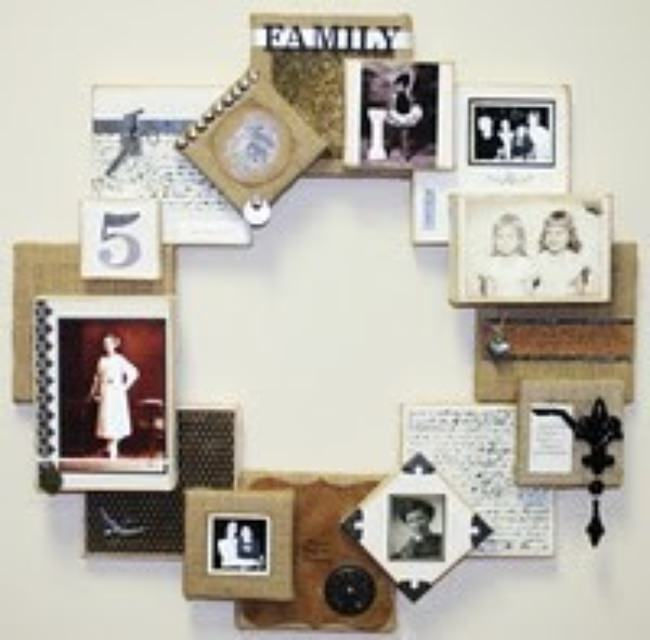 Canvas Collage Wreath