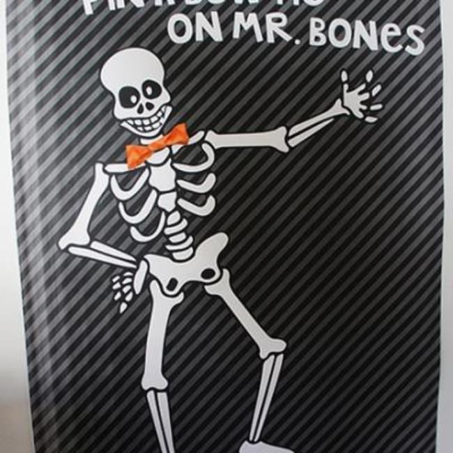 Pin the Bow Tie on Mr. Bones {halloween games}