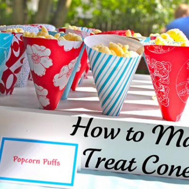 How to Make Treat Cones {Food Ideas}