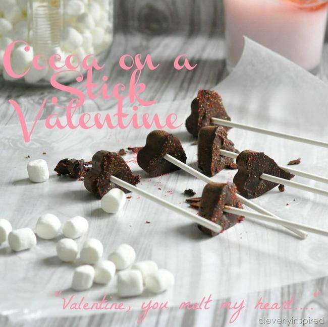 Heart Hot Cocoa on a Stick Valentine {Valentine Edible Gifts}