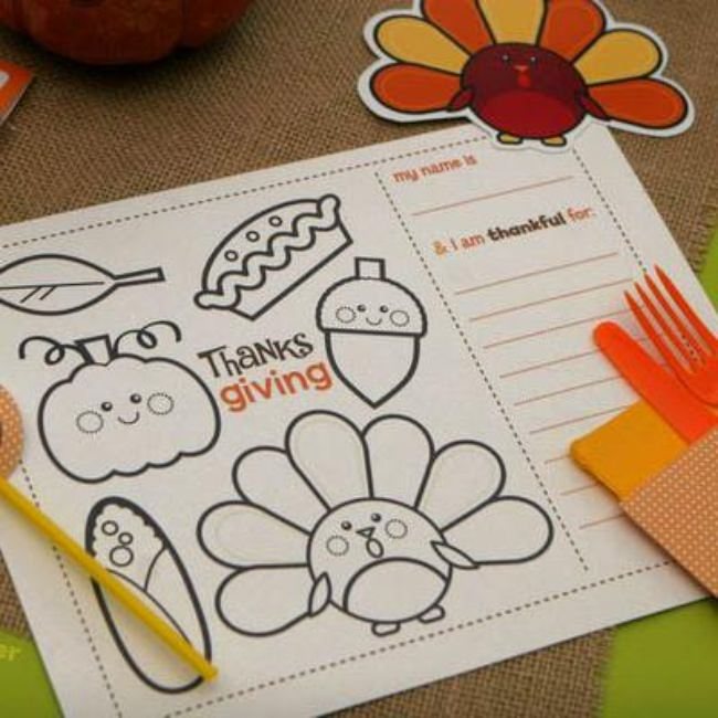 I am Grateful For Activity and Coloring Page {Thanksgiving Printable}