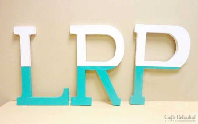 dipped wall letters