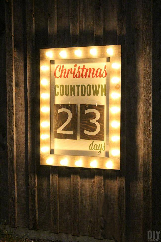 Outdoor Countdown Marquee