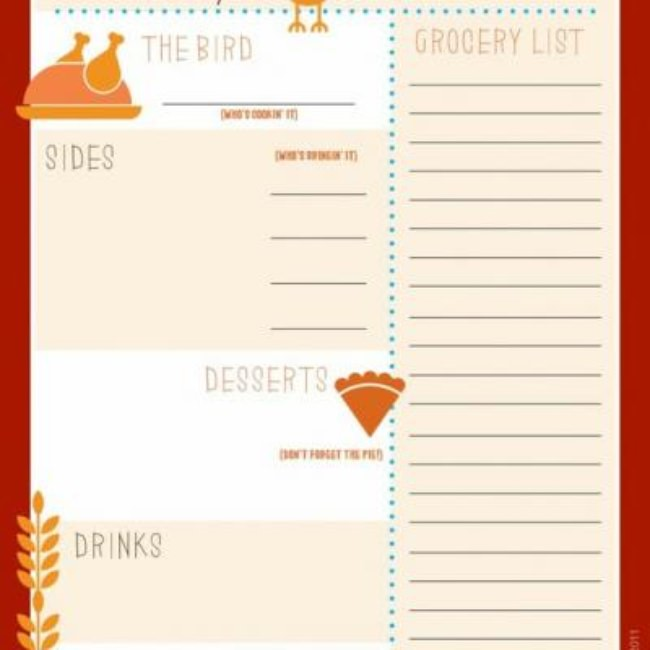 Thanksgiving Menu Planner Printable {Thanksgiving Menu}