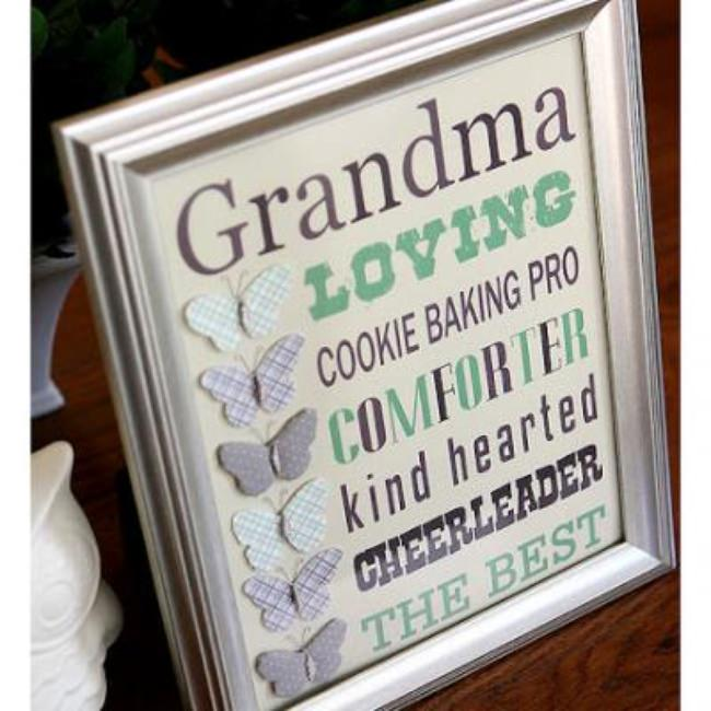 Framed Gift for Grandma {Mother's Day for Grandma}