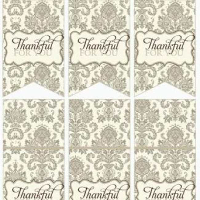 Thanksgiving Dinner or Party Printables