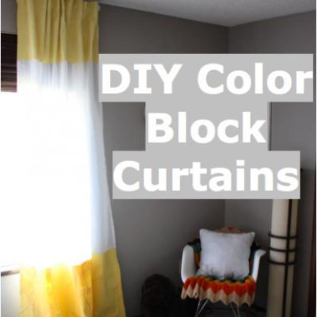 Color Block Curtain DIY {Drapes}