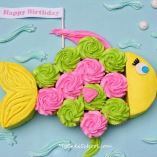 How to Make a Fish Cupcake Cake {cake ideas}