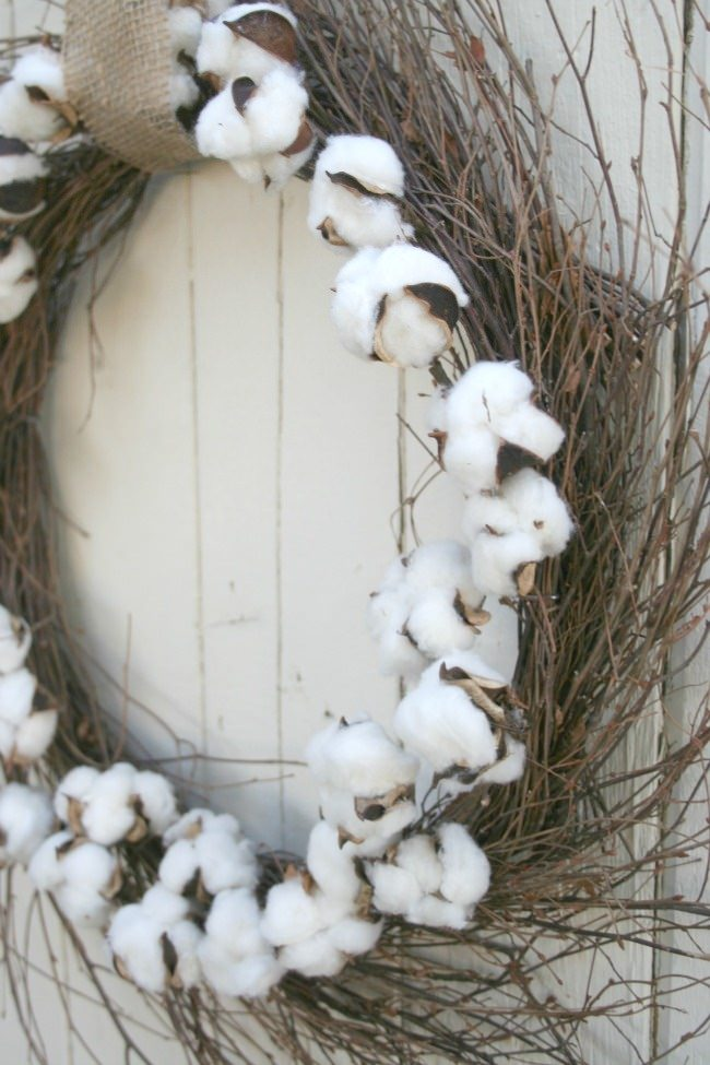 diy cotton wreath b