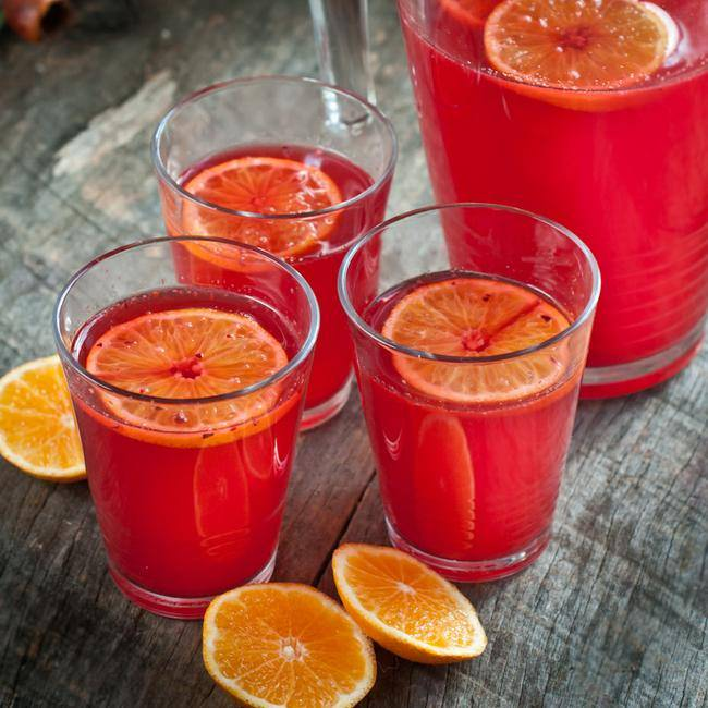 Fresh Cranberry Ginger Orange Punch