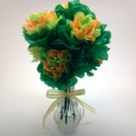 Easy Tissue Paper Flower.