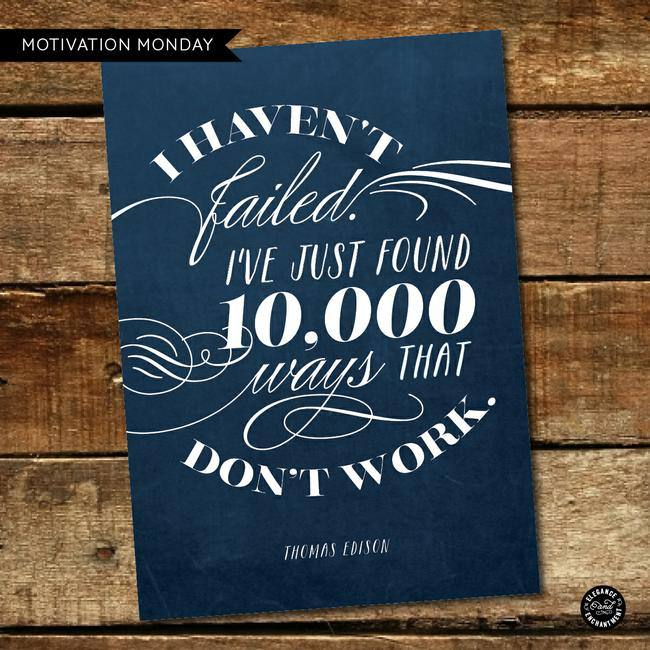 Thomas Edison Motivational Printable