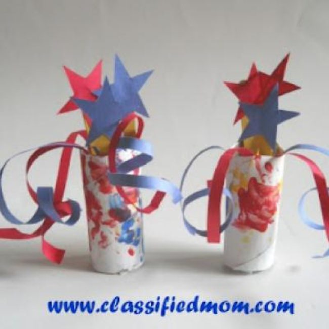 Patriotic Centerpiece Kids Craft {Paper Crafts}