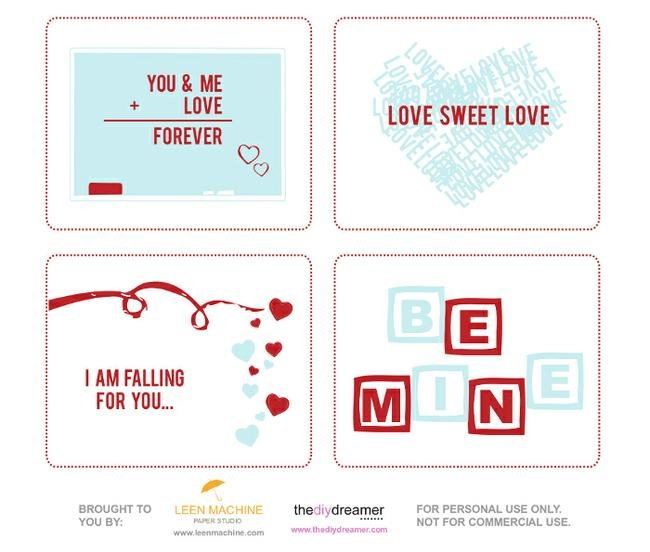 Valentine Cards {free printable}