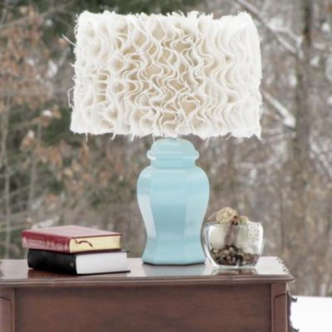 Anthropology Inspired Ruffle Burlap Lamp {Lamps}