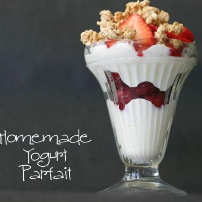 Homemade Yogurt Parfaits {Recipe}