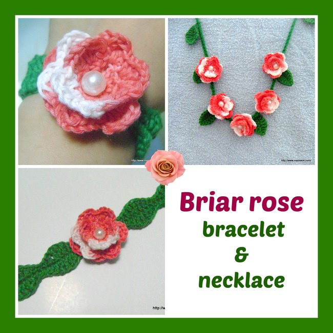 Briar rose bracelet and necklace
