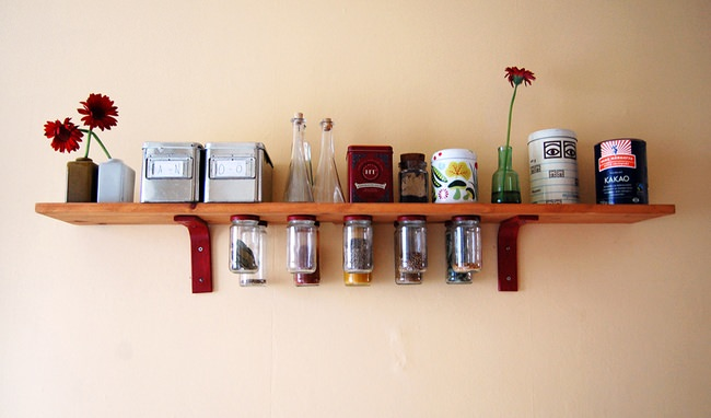 How To Make Hanging Mason Jar Shelves