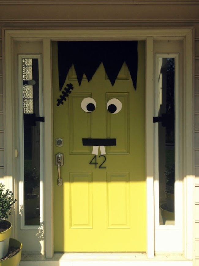 Frankenstein Door Decor
