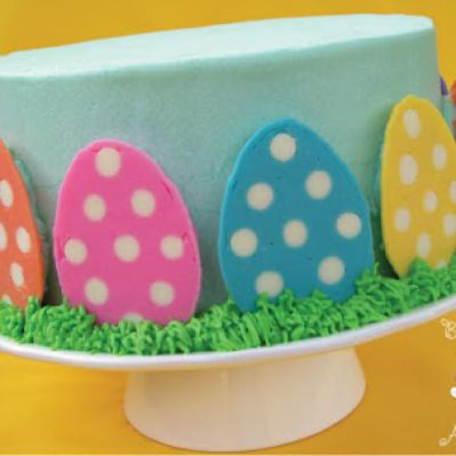 Polka Dot Easter Egg Cake