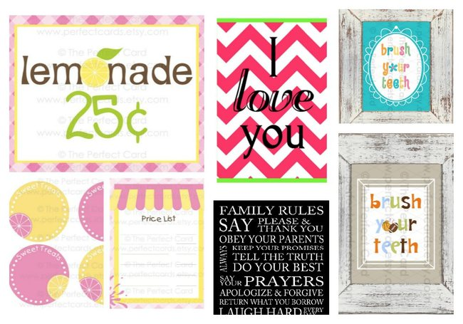 Wednesday: 5 Cute PRINTABLE Set Flash Sale {Save $20}