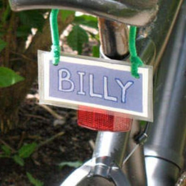 Bicycle License Plate Craft {Cool Craft}
