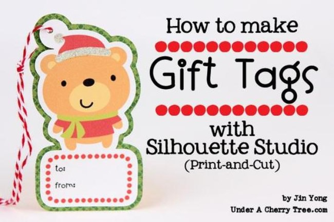 How to make Gift Tags with the Silhouette Studio program