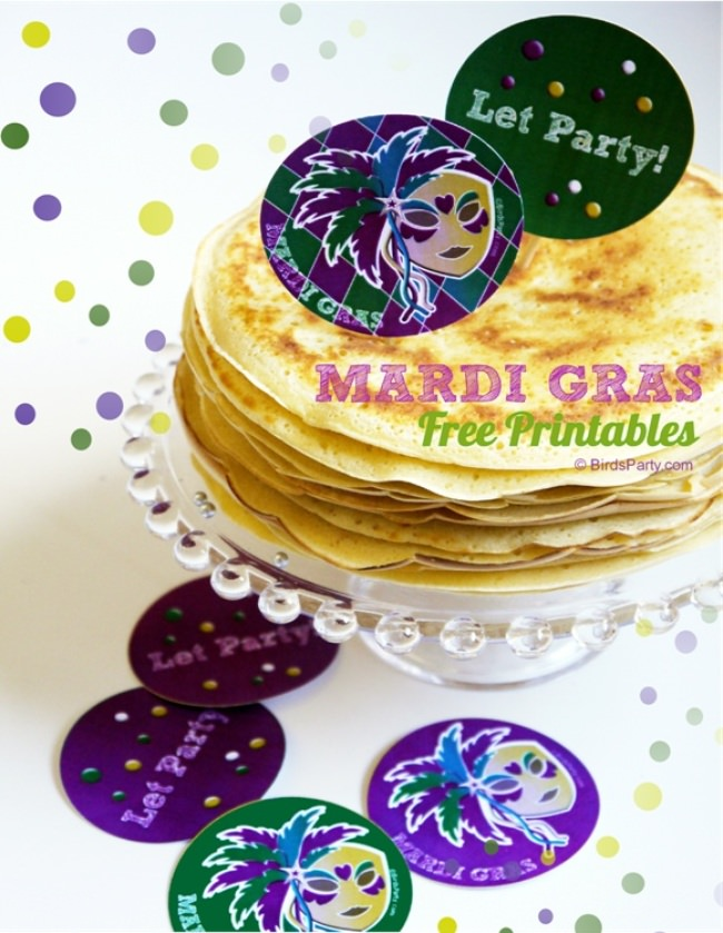Mardi Gras Printable Party Tags