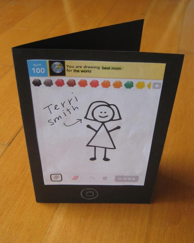 Draw Something Mother's Day Card