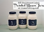 DIY chalkboard label mason jars
