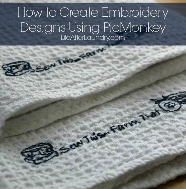 How to Create Embroidery Designs Using PicMonkey