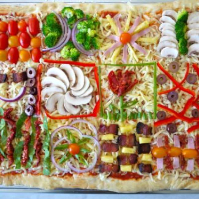 Quilt Pizza {Kids DInner Party}