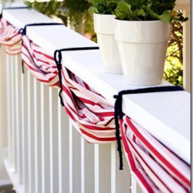 DIY Patriotic Bunting {Fourth of July}