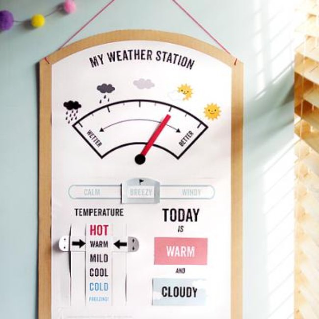 Printable Weather Station {Weather}