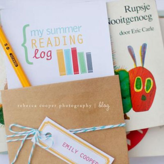 Printable Summer Reading Log + Summer Reading List