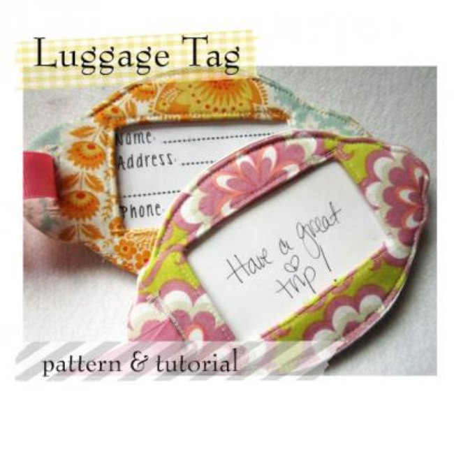 DIY Fabric Luggage Tags