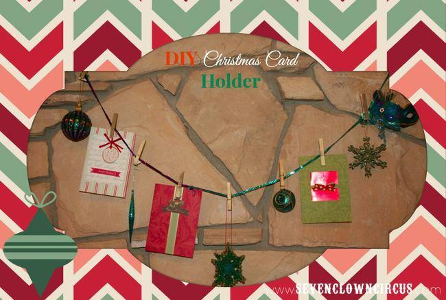 Christmas Card Holder {DIY}