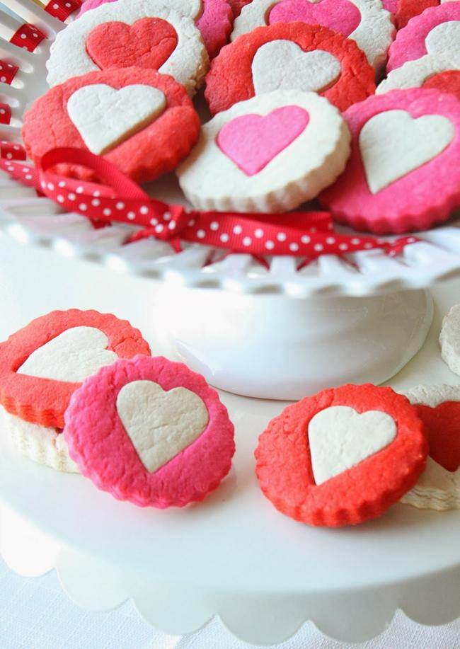 Two-Tone Heart Cookies