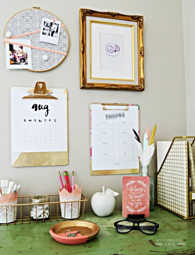 Mini Command Center {homework calendar}